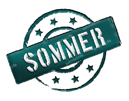 Sign and stamp for your presentation, for websites and many more named SOMMER