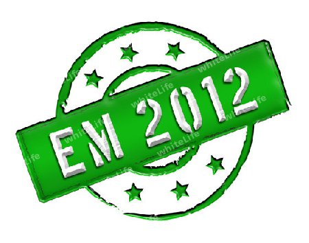 "Sign and stamp named ""EM 2012"" for your presentation, for websites and many more."